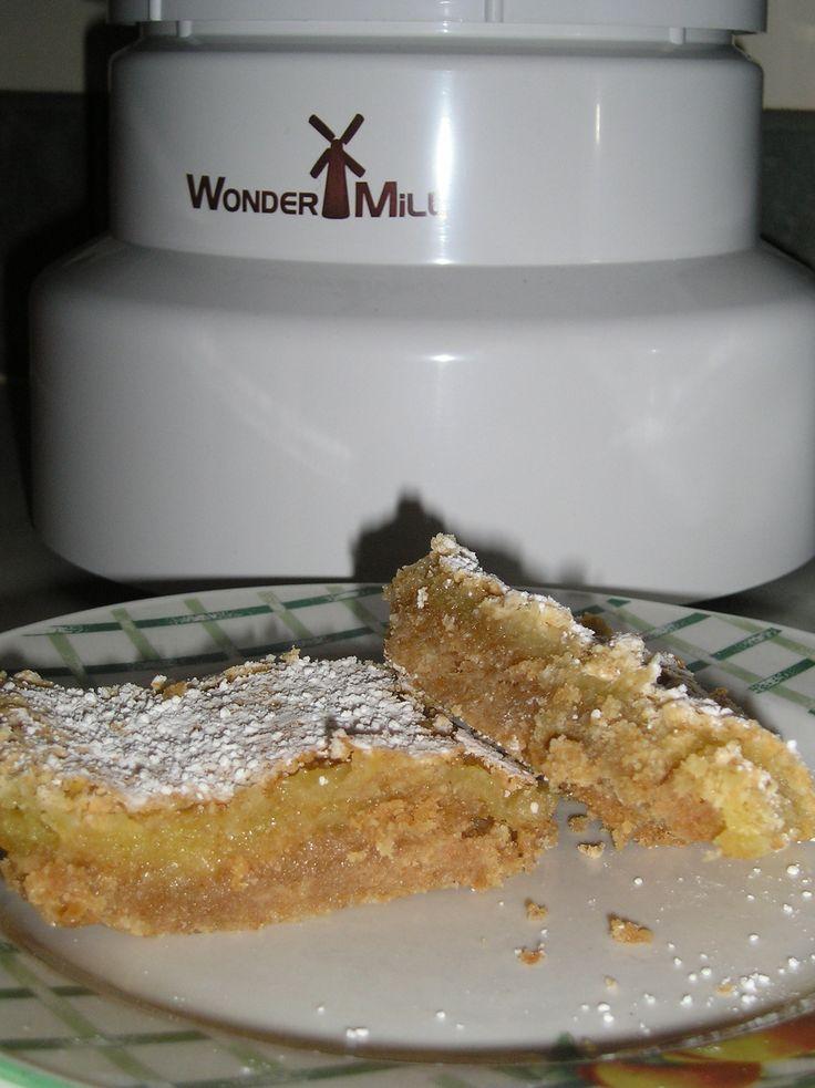 Whole Wheat Lemon Bars | Grain Mill Wagon Challenge | Pinterest