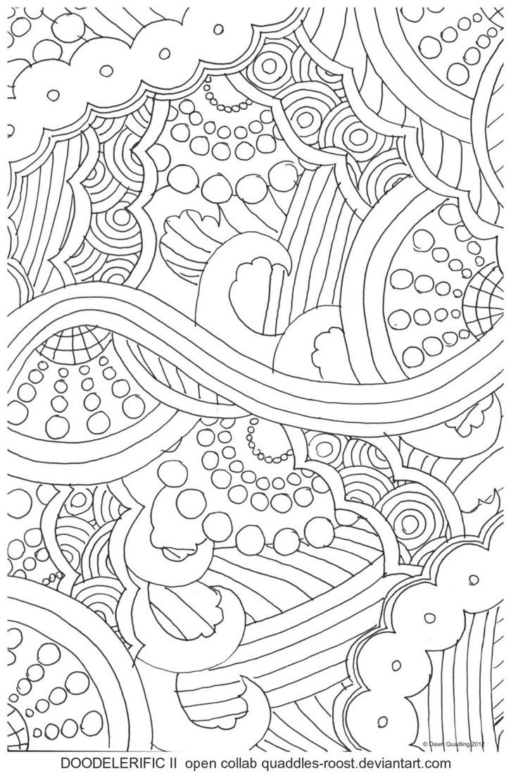 Coloring pages for donna flor - Doodlefiric Ii Open Collab By Quaddles Roost On Deviantart Coloring For Adultsadult Coloring Pagescolouring