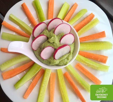 Gluténmentes vegán brokkoli mártogatós zöldségekkel (paleo)