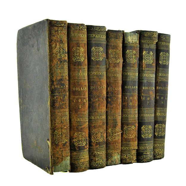 Antique Book Collection 7 Volumes Ancient History of the Egyptians Carthaginians Assyrians 1829  Charles Rollin Brown & Peters (185.00 USD) by PlumsandHoney