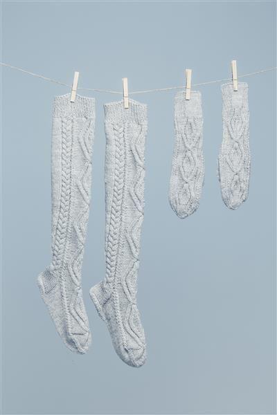 Lange sokker til å ha i støvlene Nr. 12 og 13
