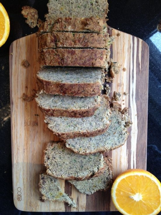 Banana Zucchini Bread- contains coconut oil. Eggless, dairy free
