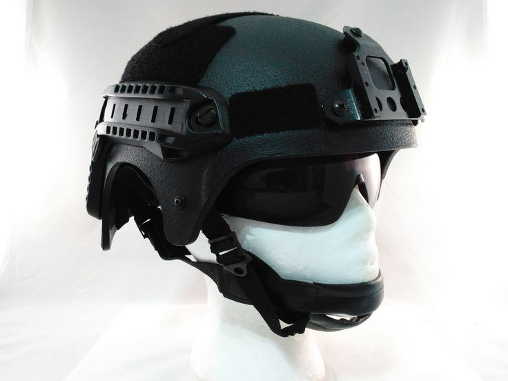 Black IBH Airsoft Helmet with Side Rails & NVG Mount. For more follow the link.. http://stores.airsoftlegion.com/ibh-airsoft-helmet-with-rails-nvg-mount-in-black/