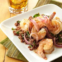 Lemon Shrimp with Spinach Quinoa @Diabetic Living would have to sub the flour in the recipe