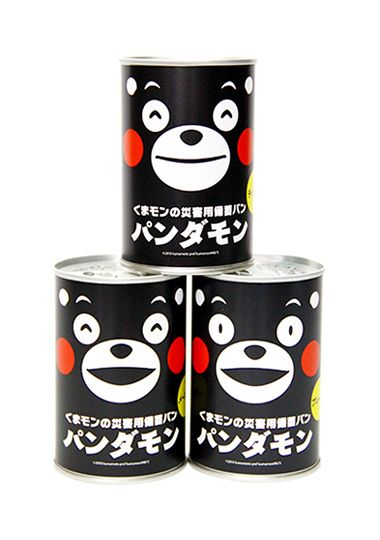 Canned bread / パンダモン. Why isn't more packaging this cute?