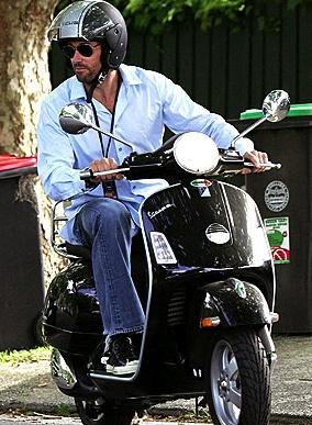 Hugh Jackmann on Vespa