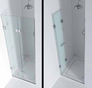 http://www.houzz.com/photos/1576204/INFOLD-SHOWER-DOOR-shower-doors minimalist frameless shower doormore info about possible solutions on www.docciadesign.com
