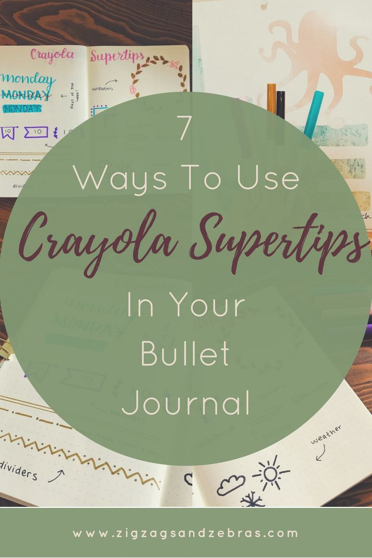 7 Ways To Use Crayola Supertips In Your Bullet Journal
