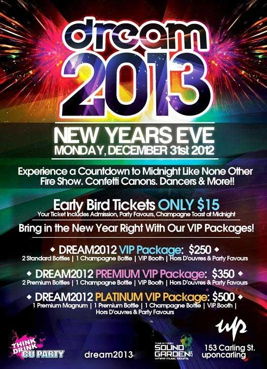 NYE London, ON  http://www.ticketscene.ca/events/7552/