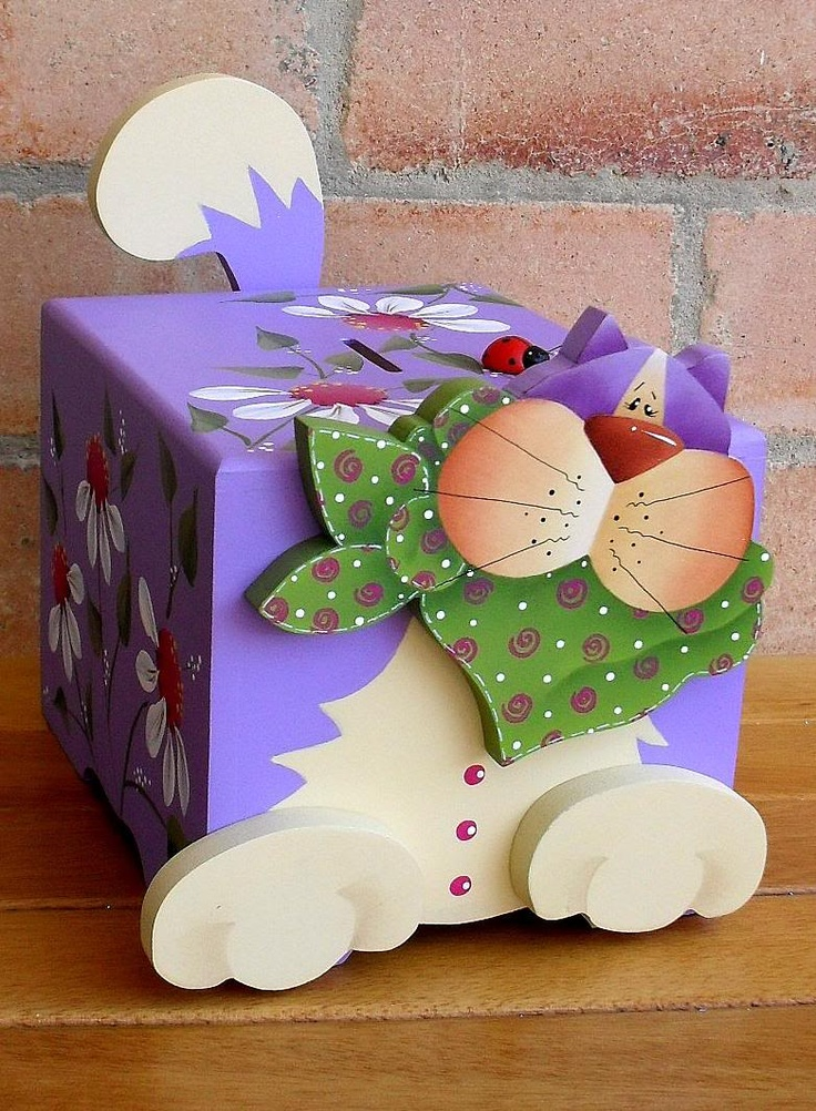 piggy banks - decorated cardboard boxes