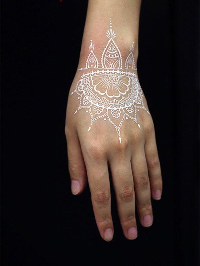 White ink henna tattoo