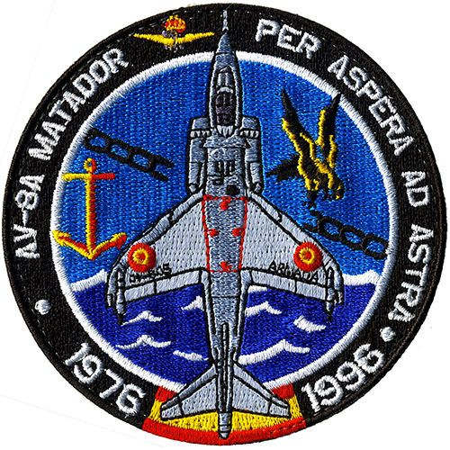 Parche-Harrier-Armada-Espana-Spanish-Navy-patch-Military-Spain-AV-8A-Matador