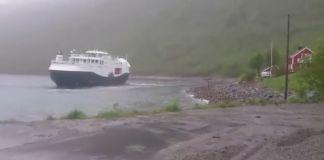 Nestenulykke i Tverrfjord med MF «Bergsfjord» 3. juni 2016
