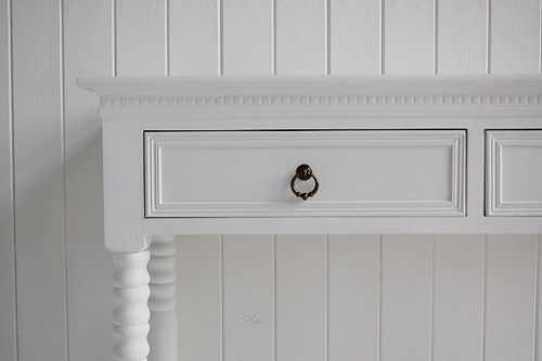 Click to purchase the New England white console table