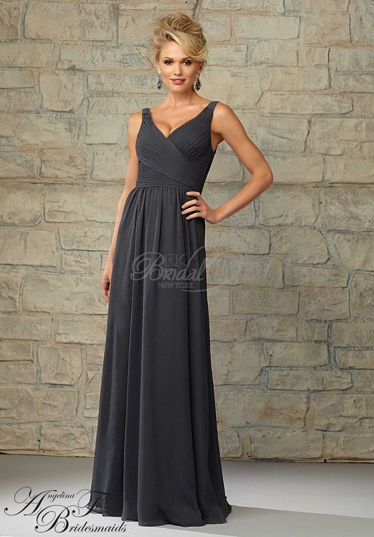 Angelina Faccenda Bridesmaids By Morilee 20454 D V Neck Luxe Chiffon Bridesmaid Dress Designed Madeline Gardner Colors Available All