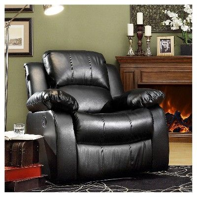 Sumner Recliner - Black, Accent Chairs