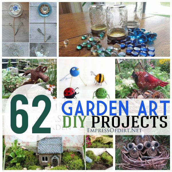 62 diy garden art projects using repurposed and recycled for Garden decorations from recycled materials