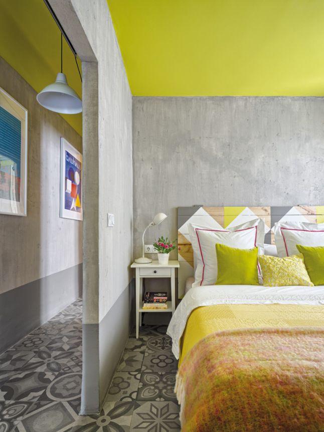 jaune citron/gris