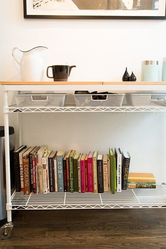 Chef Charlie Marshall shows off his custom InterMetro Kitchen Cart from The Container Store! | The Kitchn