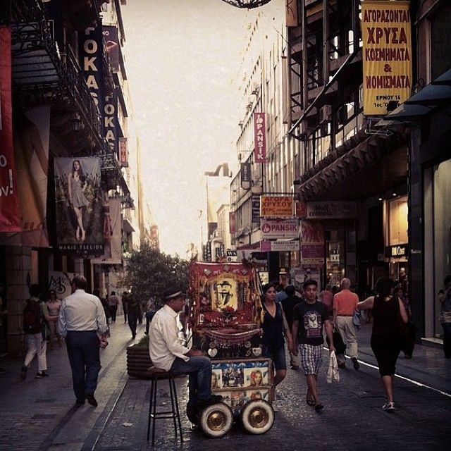 A normal day walking down Ermou, the main shopping street in downtown Athens. #cyathens www.instagram.com/cyathens