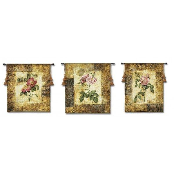 Гобелен Триптих  Цветущая элегантность большой