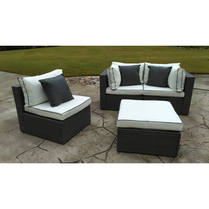 Burruss Patio Sectional With Cushions Patio Sectional Outdoor Sofa Contemporary Outdoor Sofas
