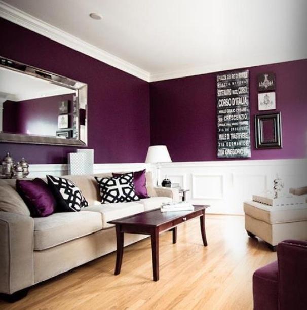 Purple walls.. How beautiful