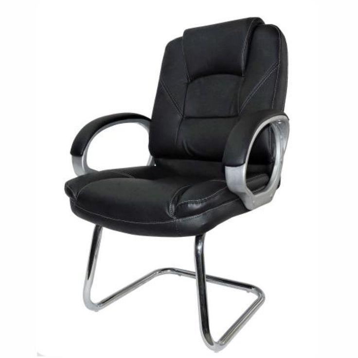 Cadeira Fixa c/Assento e Encosto Couríssimo Preto Tasca 6302-2