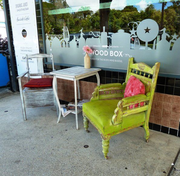 Woodbox Cafe at West Burleigh is an 'Earth Mother' experience - organic, preservative free, gluten free and vegan friendly in beautiful surroundings.