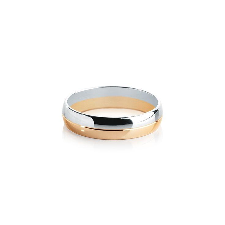 Обручальные кольца : Золото розовое/белое 585 проба, ширина 5 мм.
