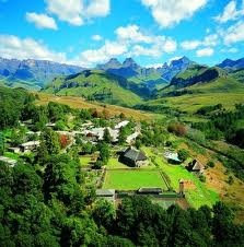 Cathedral peak, Drakensberg, South Africa - went here many times... horse-riding, hikes through a rain-forest, clean mountain air...