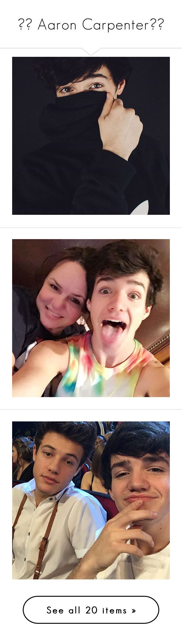 """✧♡ Aaron Carpenter♡✧"" by luni-salazar ❤ liked on Polyvore"