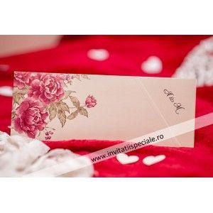 Invitatie Eleganta Flori 5491
