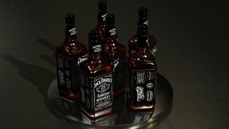 Botella jackdaniel's