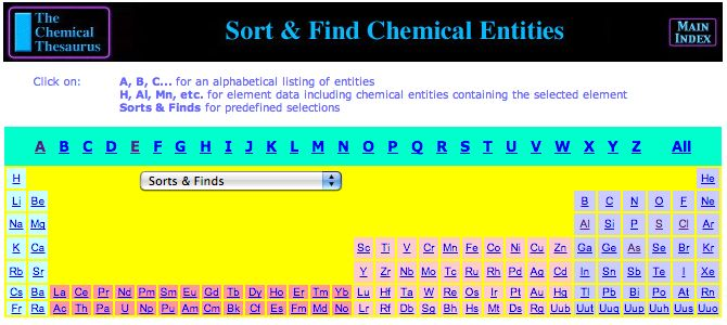 Chemical Thesaurus Reaction Chemistry Database - The INTERNET Database of Periodic Tables  - http://www.meta-synthesis.com