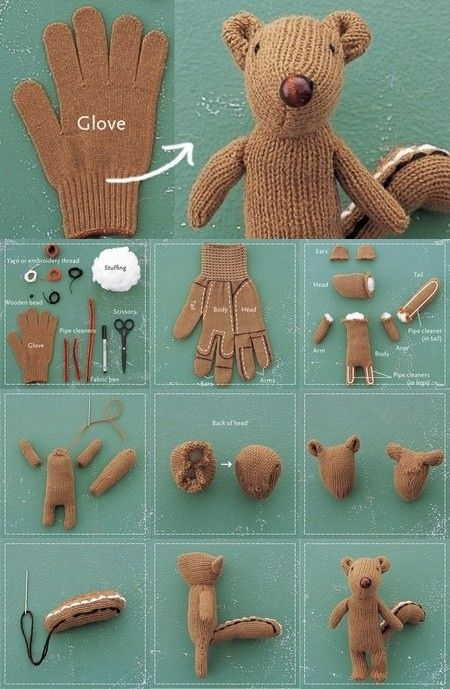 diy from a glove! :o)