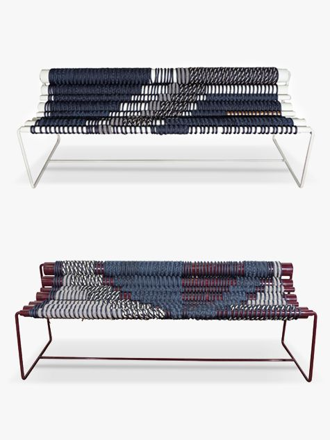 A Turkish Furniture Designer Who's Also a Dreamy Weaver For her latest desert-inflected creations, Betil Dagdelen throws out the loom and weaves her exquisite patterns directly on the frames of furniture.
