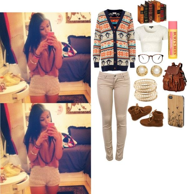"""""""MONDAY COLLEGE OUTFIT !"""" by brezzy101 ❤ liked on Polyvore"""