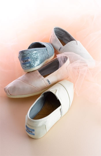 Love Toms. Perfect wedding day dancing floor shoes :)