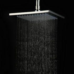 8 pouces en laiton chromé pluie contemporain de tête de douche HB08