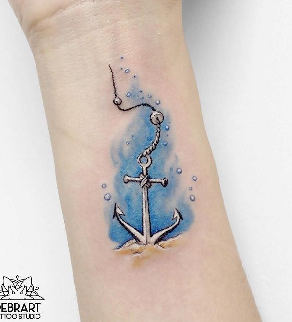 Amazing Watercolor Anchor Tattoo 50 Awesome Anchor Tattoo
