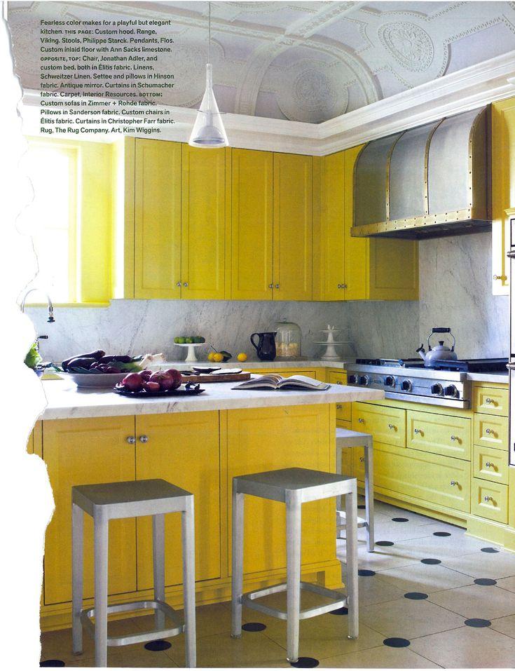 Die besten 25+ Yellow cabinets Ideen auf Pinterest gelb - sonne scheint gelben kuche