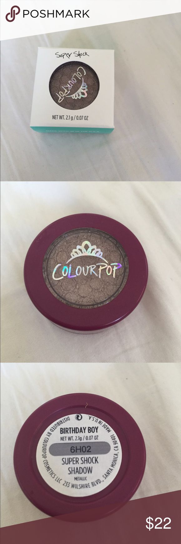 Colourpop Birthday Boy! Brand new. Never opened or swatched. Box only opened for pictures. Colourpop Makeup Eyeshadow
