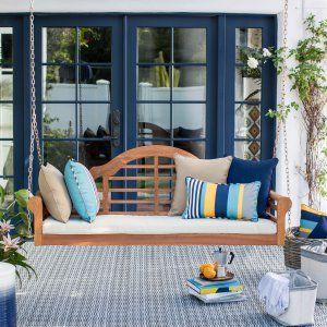 Belham Living Ashbury 4 ft. Wood Porch Swing - Dark Brown - Porch Swings at Hayneedle