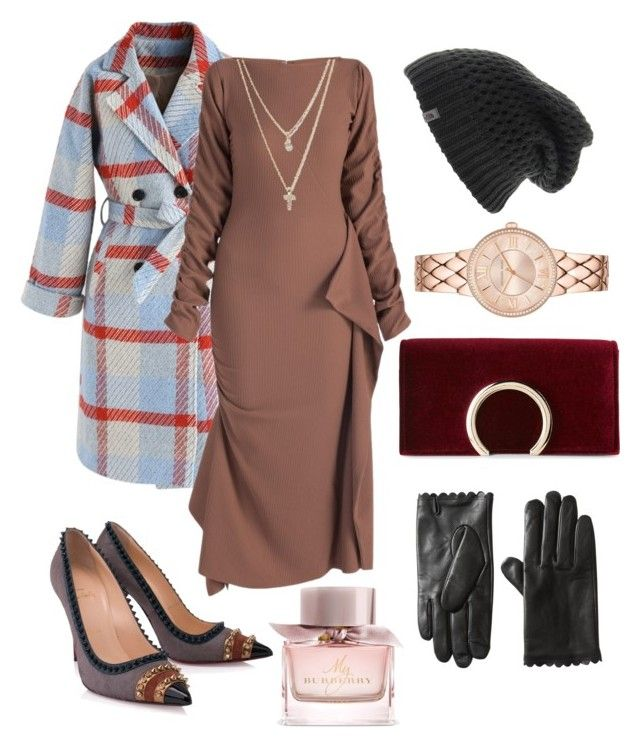 """""""Outfit Inspiration"""" by rebeccaodil on Polyvore featuring Chicwish, Christian Louboutin, Jessica McClintock, LOFT, The North Face and Burberry"""
