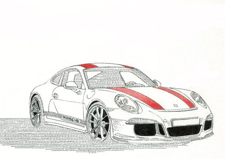#Porsche #911 #RS #tegnepeter #illustration #heydenreich