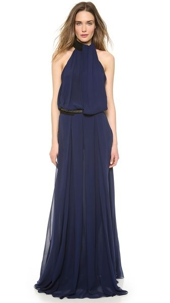 too bad so expensive :( CoSTUME NATIONAL Halter Neck Maxi Dress