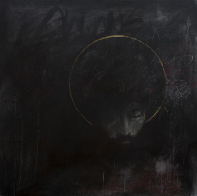 "Scott Erickson, Man Acquainted With Grief   acrylic on canvas   48""x48"""