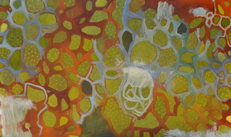Aria Stone, Reef, Oil and dry pigment on canvas, 91.5 x 153.5 cm, Price: $3,500.