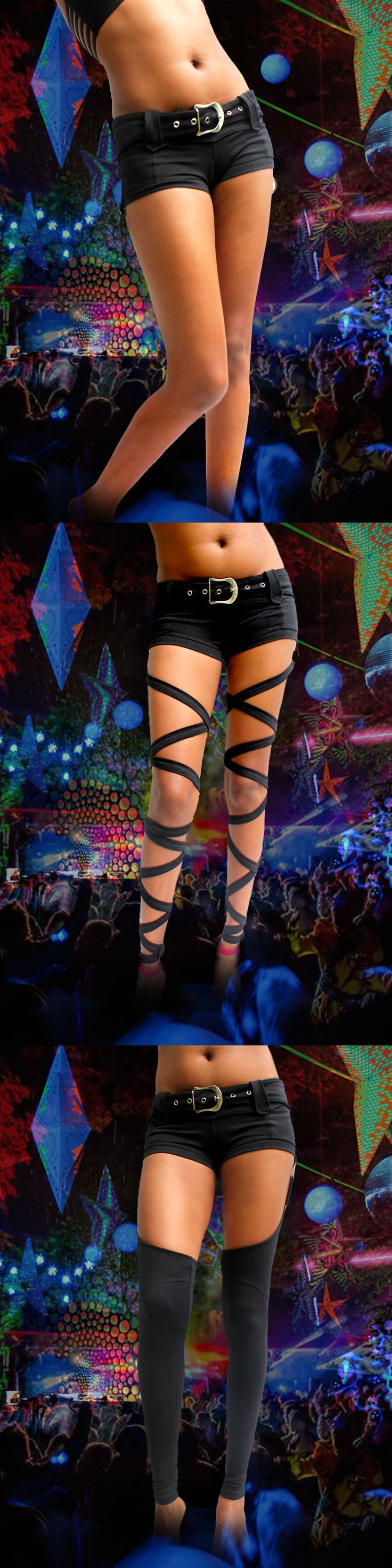 1 outfit - 3 styles ... gogo belly dancer hot pants rave party festivals